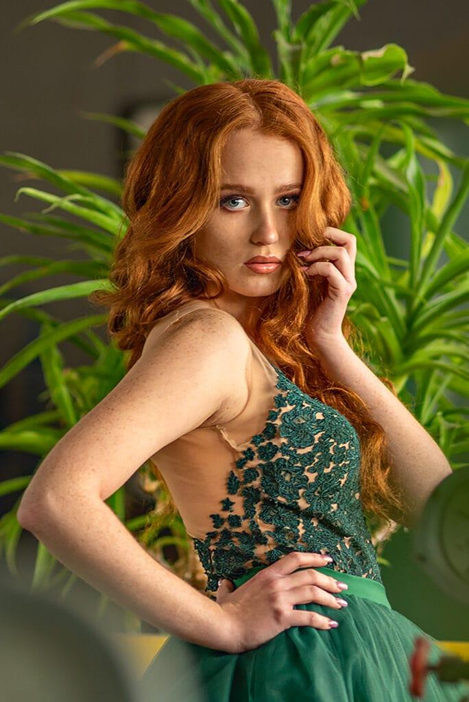 zielona suknia ślubna fanfaronada
