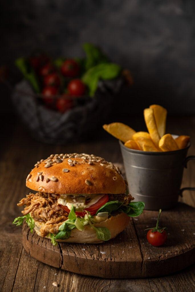Fotografia kulinarna Szczecin, burger, restauracja