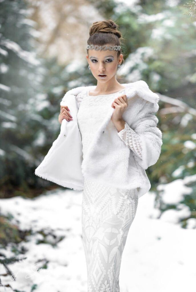 sesja w śniegu szczecin