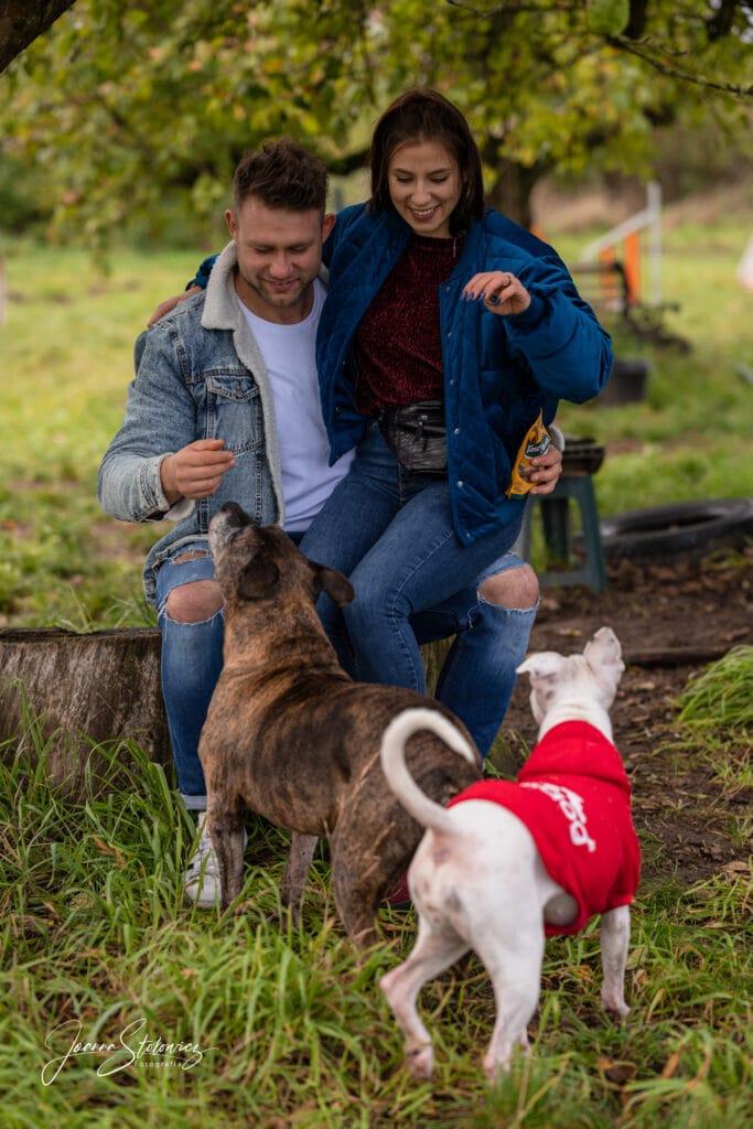 sesja rodzinna plenerowa z psami szczecin